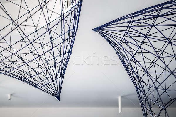 Metal teto branco horizontal construção Foto stock © bezikus