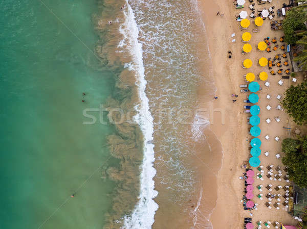 Tropical landscape of beach and sea Stock photo © bezikus