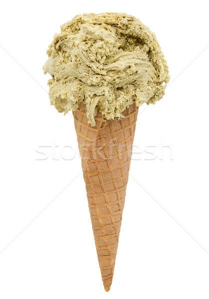Pistache crème glacée isolé blanche sélectif chemin Photo stock © bezikus