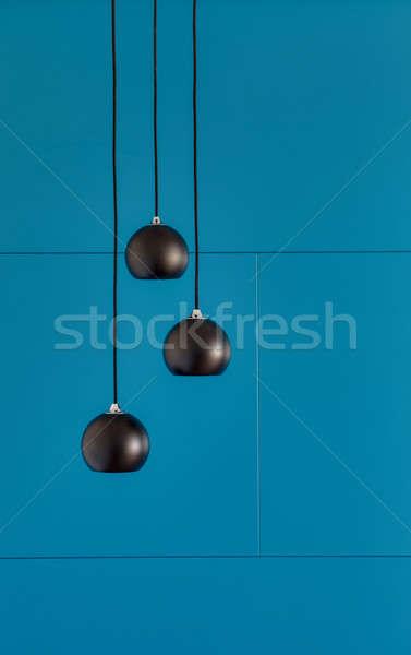 Three ceiling lights, loft-style interi Stock photo © bezikus