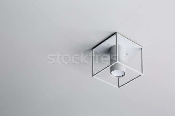 Lamp on light ceiling Stock photo © bezikus