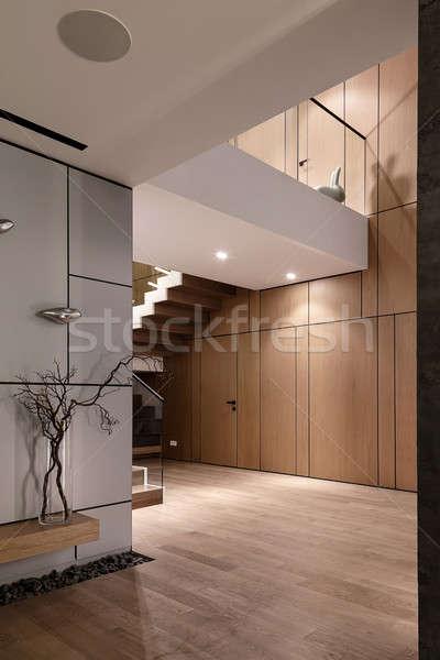 Foto stock: Interior · estilo · moderno · de · moda · moderna · paredes