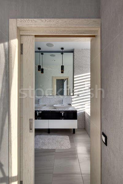 Bathroom in modern style Stock photo © bezikus