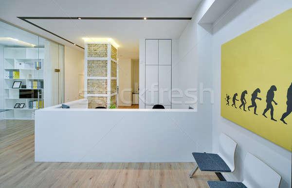 Receptie moderne kantoor moderne stijl witte muren Stockfoto © bezikus