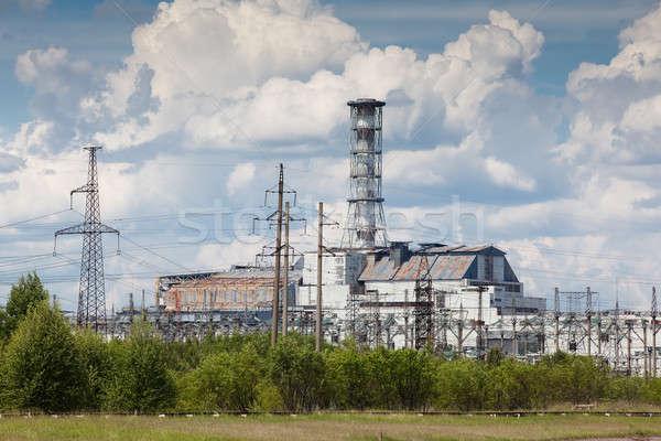 Centrale elettrica view estate stagione Ucraina cielo Foto d'archivio © bezikus