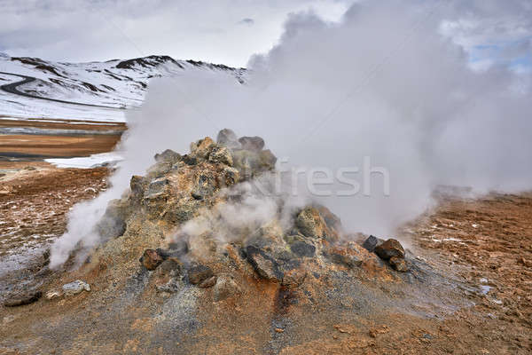Geothermal geyser in Iceland Stock photo © bezikus