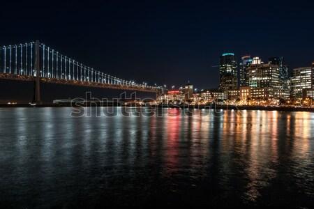 Nuit cityscape San Francisco Californie USA Photo stock © bezikus