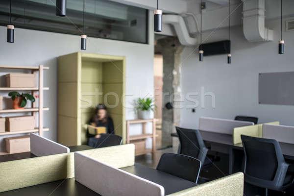 Zdjęcia stock: Elegancki · biuro · strych · stylu · szary · ściany