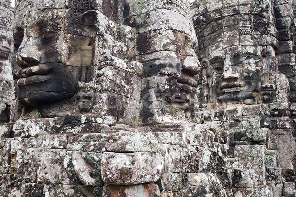 Yüzler angkor gülen tapınak ünlü yer Stok fotoğraf © bezikus
