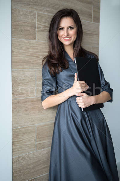 Business portrait slim pretty girl in a strict office clothes Stock photo © bezikus