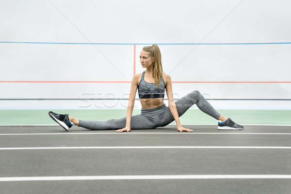 Sportive girl training outdoors Stock photo © bezikus