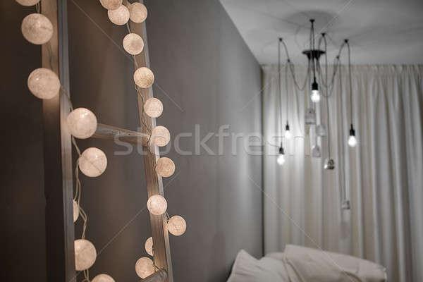Wnętrza nowoczesny styl drabiny sferze Zdjęcia stock © bezikus