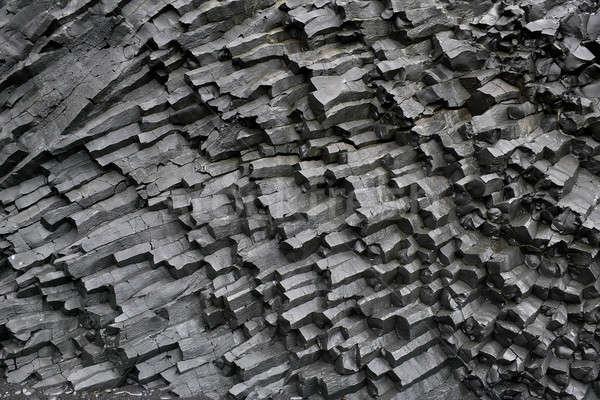 玄武岩 列 フォーメーション 暗い アイスランド クローズアップ ストックフォト © bezikus