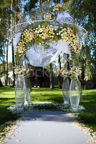 Beautiful wedding arch Stock photo © bezikus
