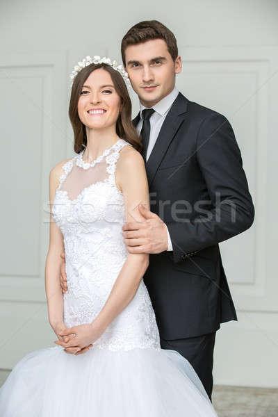 Beautiful fashion bridal couple Stock photo © bezikus