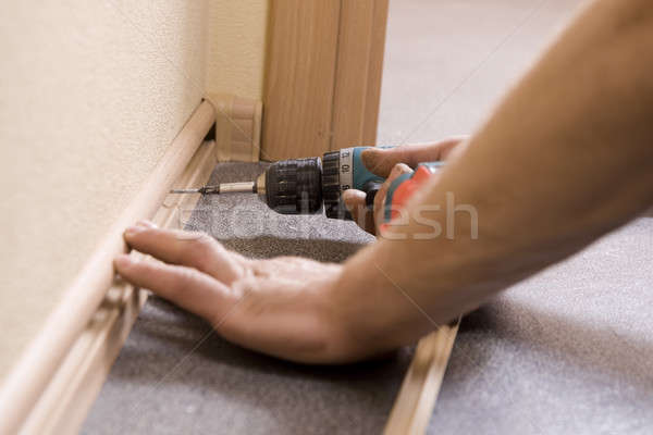 fixing plinth in the room Stock photo © bezikus