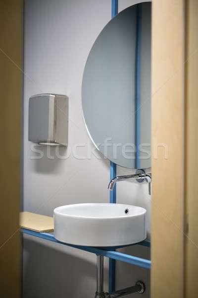 Stock fotó: Toalett · üzlet · iroda · bejárat · fehér · mosdókagyló