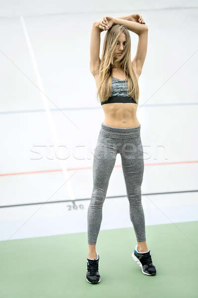 Sportive girl posing outdoors Stock photo © bezikus