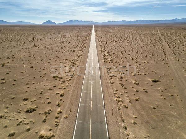 Hermosa paisaje muerte valle sequía carretera Foto stock © bezikus