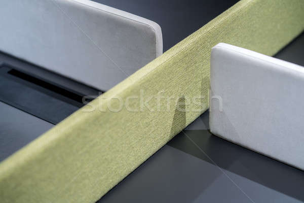 Dark table with green and gray textured partitions Stock photo © bezikus