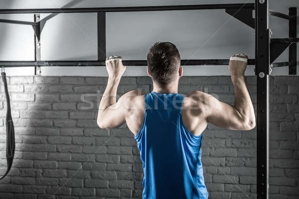 Pull-up workout Stock photo © bezikus