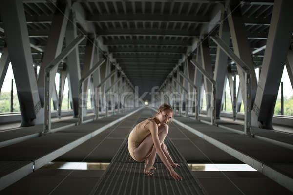 Portret młodych wdzięczny baleriny pełny wzrost Zdjęcia stock © bezikus