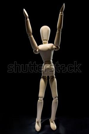 human figure - arms up Stock photo © bezikus