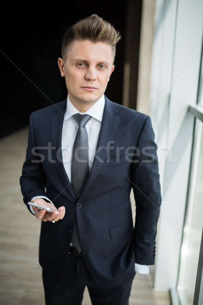 Portrait of a stylish businessman Stock photo © bezikus