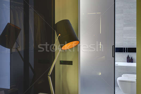 Interieur moderne stijl ontwerp lamp entree Stockfoto © bezikus