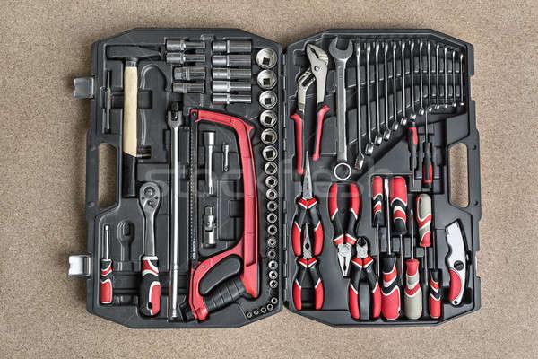 Toolbox with black-red instruments Stock photo © bezikus