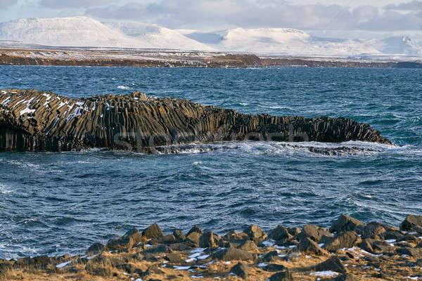 Rocky seashore landscape Stock photo © bezikus