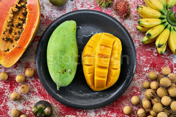 Colorful exotic fruit Stock photo © bezikus