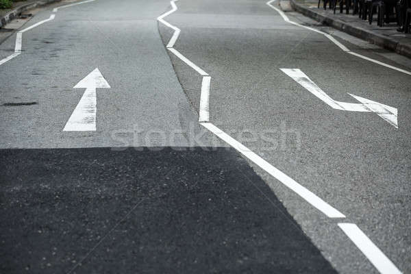 Roadway with white marking Stock photo © bezikus