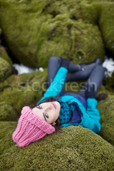Girl posing outdoors Stock photo © bezikus