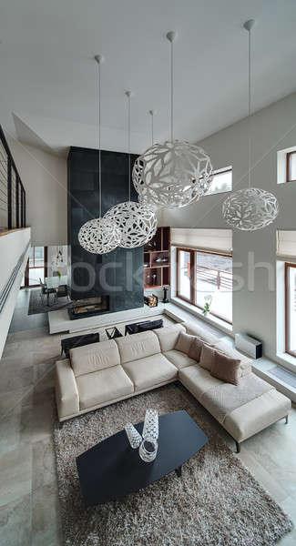 Licht kamer huisje hal muren groot Stockfoto © bezikus