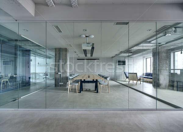 Iç çatı katı stil ofis beyaz tuğla Stok fotoğraf © bezikus