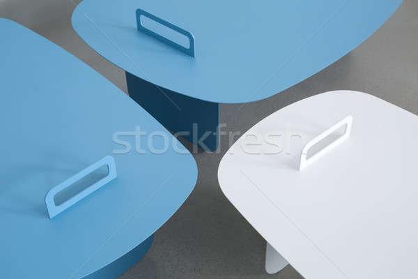 Stock photo: Stylish metal stands