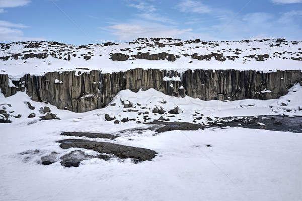 Icelandic landscape with river Stock photo © bezikus