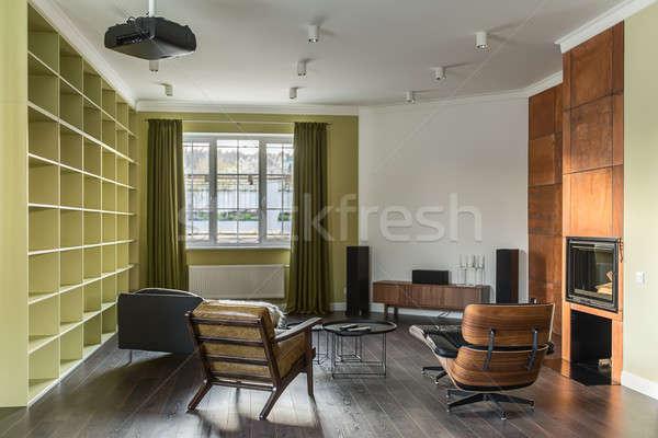 Sala stile moderno stanza luce muri piano Foto d'archivio © bezikus