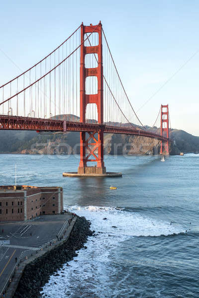 Belo cityscape Golden Gate Bridge San Francisco Califórnia EUA Foto stock © bezikus