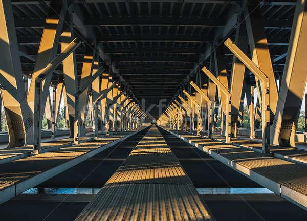 The inner part of the unfinished Podolsky bridge Stock photo © bezikus