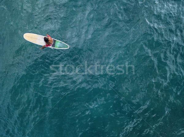 Légi fotó szörfös tábla magányos szörfdeszka Stock fotó © bezikus