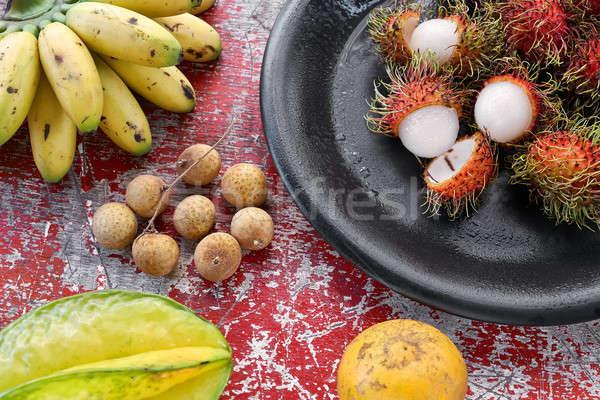 Сток-фото: вкусный · экзотический · фрукты · красочный