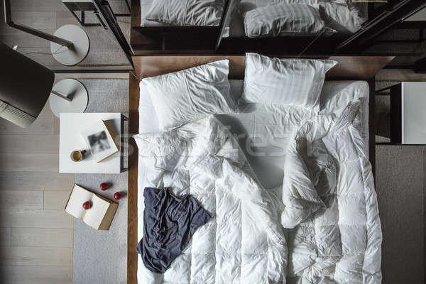 Bedroom in loft style Stock photo © bezikus