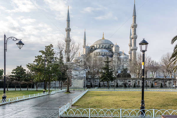 Famous Blue Mosque in Istanbul Stock photo © bezikus