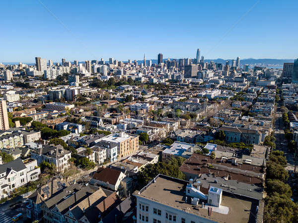 Mooie stadsgezicht San Francisco majestueus blauwe hemel Californië Stockfoto © bezikus