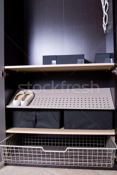 шкаф шельфа окна комнату жизни полу Сток-фото © bezikus