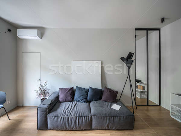 Interior in modern style with light walls Stock photo © bezikus