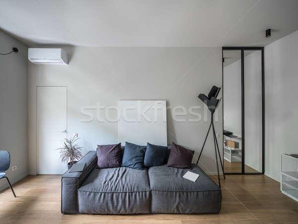 Interni stile moderno luce muri stanza piano Foto d'archivio © bezikus
