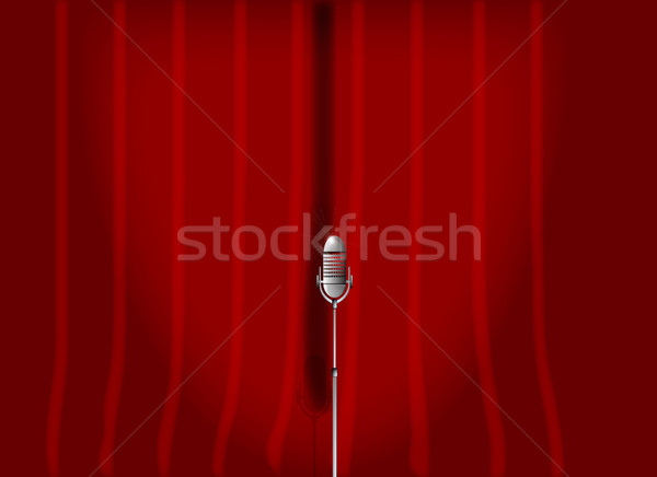 Red Stage Curtain. Stock photo © Bigalbaloo
